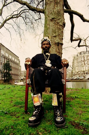 Lee 'Scratch' Perry in Amsterdam, the Netherlands, 1992.