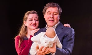 Amy Molly (Julie) and Stephen Rea (Eric) in Cyprus Avenue by David Ireland at the Royal Court, Jerwood Theatr, 2016.