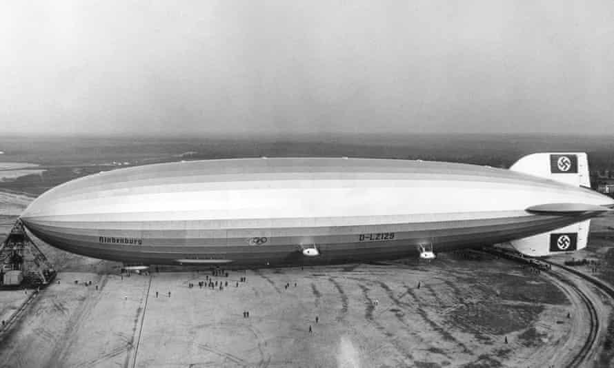 The giant zeppelin Hindenburg, pictured in Lakehurst, New Jersey, was so big that its tail stuck out of the hanger built for it in Santa Cruz, near Rio de Janeiro, Brazil.