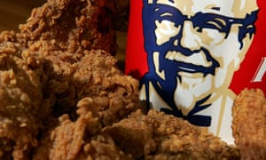 A bucket of KFC Extra Crispy fried chicken