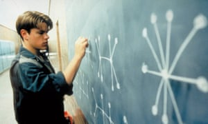 Signs of brilliance: Matt Damon as an undiscovered genius in Good Will Hunting
