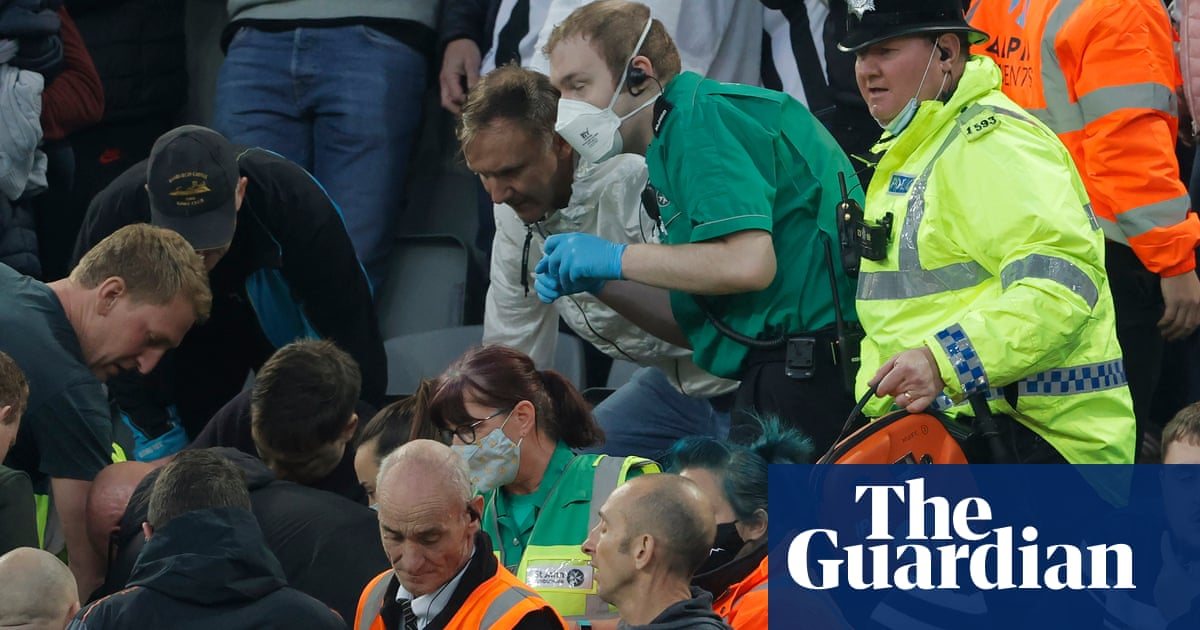 'This wasn't just me': doctor who helped save Newcastle fan hailed as hero