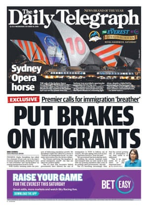 Front page of the daily telegraph Wednesday 10 October