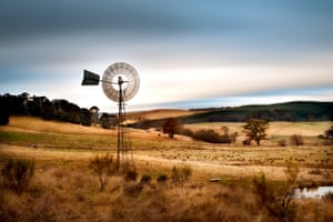 Windmill for pumping water in a paddock