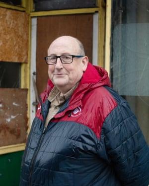 Retired steel worker Gareth Morgan.