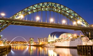 Tyne Bridge and the Gateshead Millennium Bridge in Newcastle