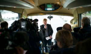 On board the kleptocracy tour bus in February.