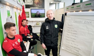 Yeovil's manager, Darren Way, prepares his players to face Manchester United in the FA Cup.
