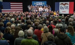 Pete Buttigieg speaks at a campaign event in Decorah, Iowa, on 2 November.