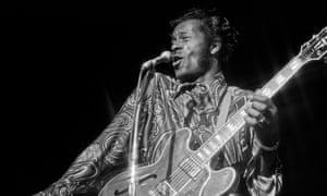 Chuck Berry performing in Las Vegas, 1972.