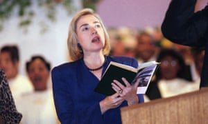 Clinton doing some midterms campaigning in October 1994.