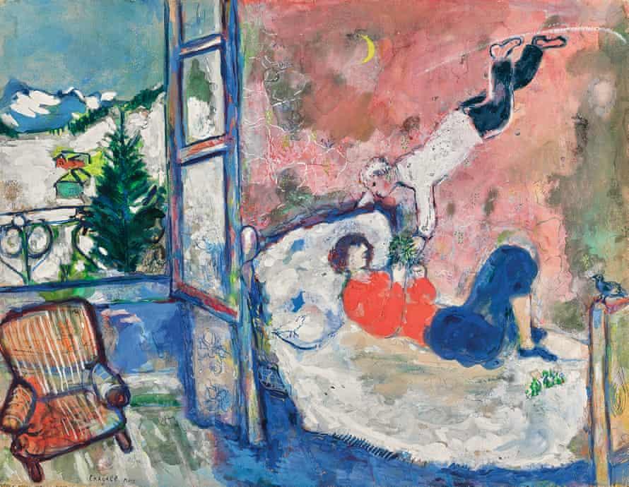 Marc Chagall, La branche de gui or Le rêve, est. £700,000-£900,000.