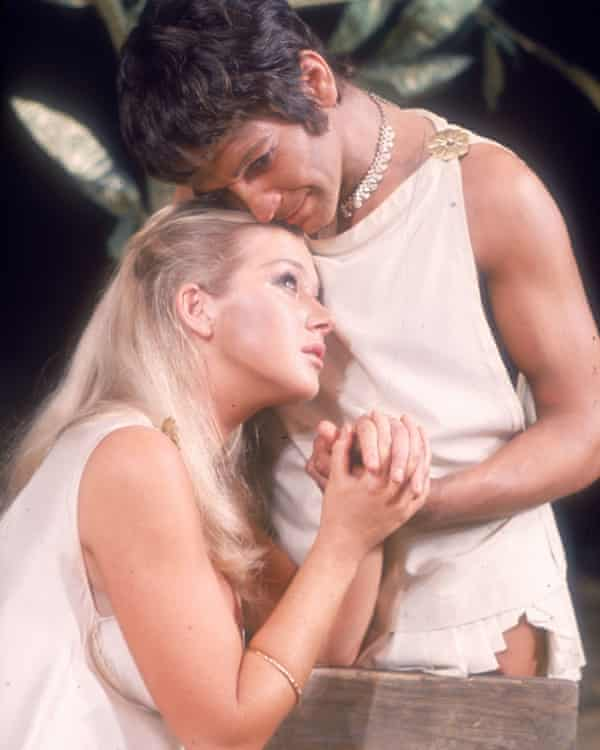 Helen Mirren and Michael Williams in the title roles of John Barton's production of Troilus and Cressida, 1968.