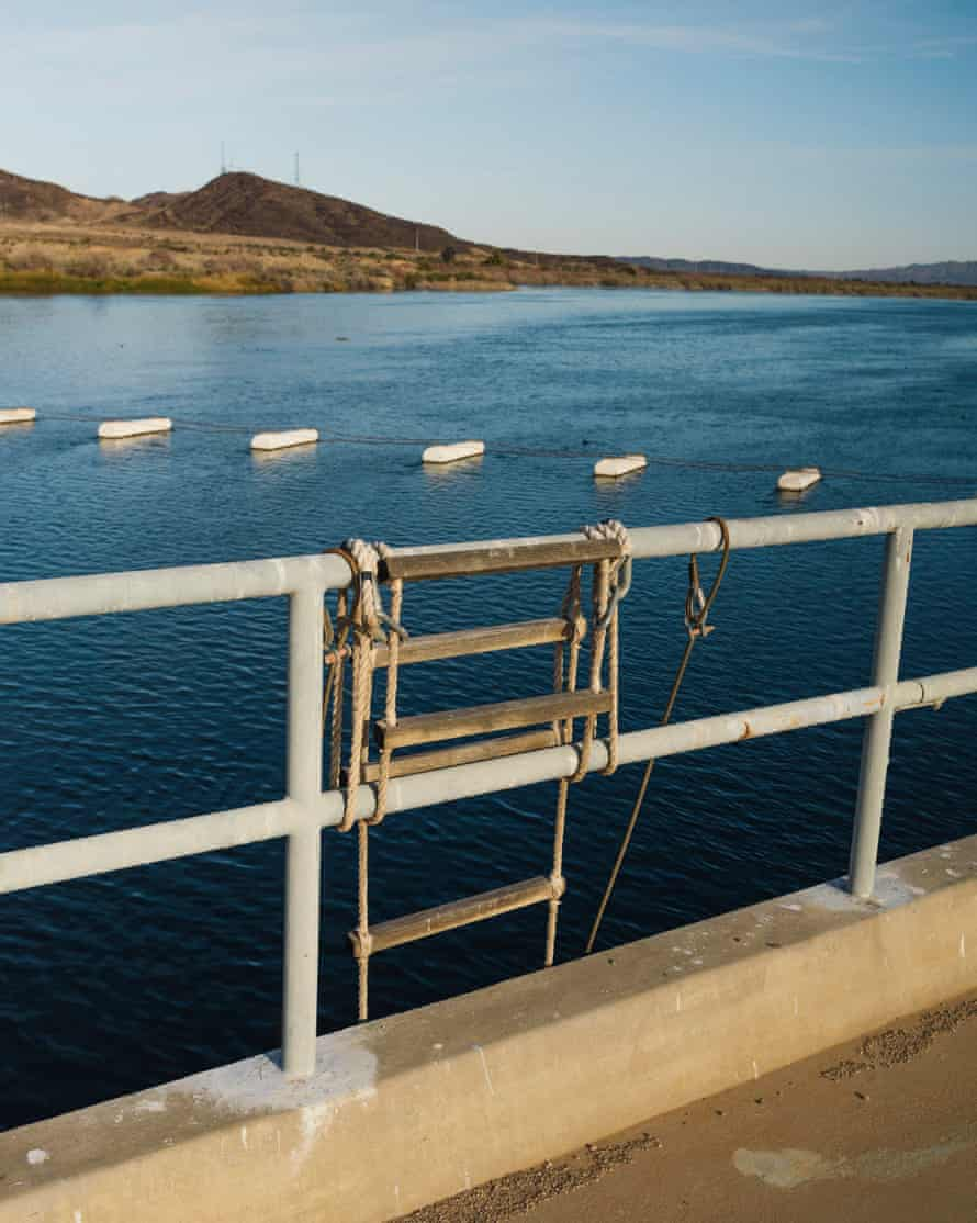 The Colorado River as seen from the PVID Diversion dam in Blythe, California.