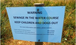 Contamination in Kent's Swalecliffe Brook. The Environment Agency has begun a criminal investigation into allegations of thousands of pollution spills by Southern Water.