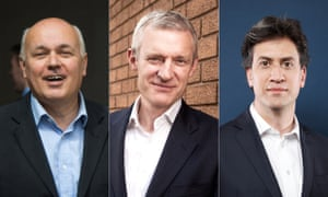 Jeremy Vine flanked by Iain Duncan Smith and Ed Miliband