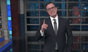 Stephen Colbert on late-night: 'Quick tip, fellas: if your sexual advances require that a woman succumb, don't do it.'