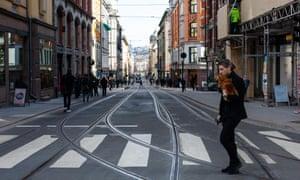 A pedestrian crossing in Oslo