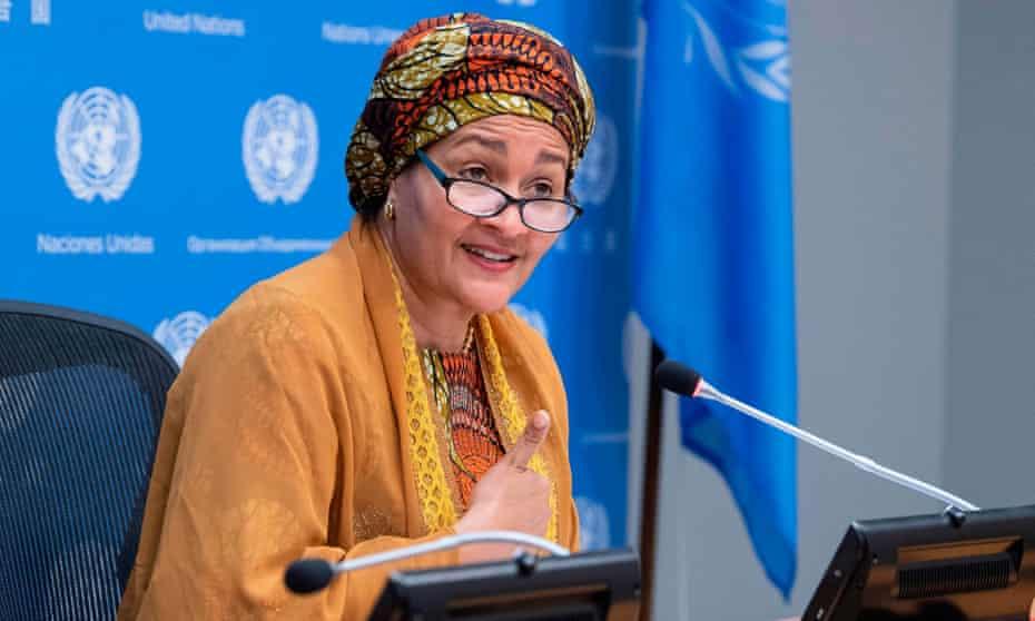 UN's deputy secretary general, Amina Mohammed