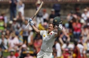 Ellyse Perry celebrates after scoring a century.