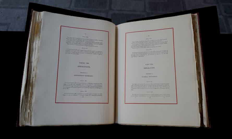 The bound treaties that marked the formal end of the first world war have been brought together for the first time.