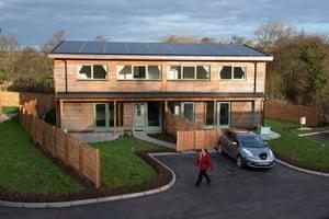 Pentre solar village in Glanrhyd, Pembrokeshire.