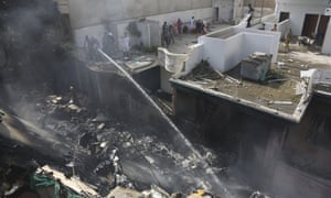 One official said the plane crashed into a street in a densely populated area, completely demolishing five houses.