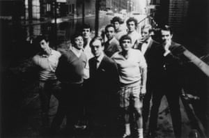 Mart Crowley and the original cast of Boys in the Band.