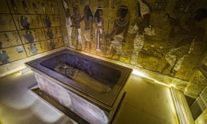 The sarcophagus of King Tutankhamun