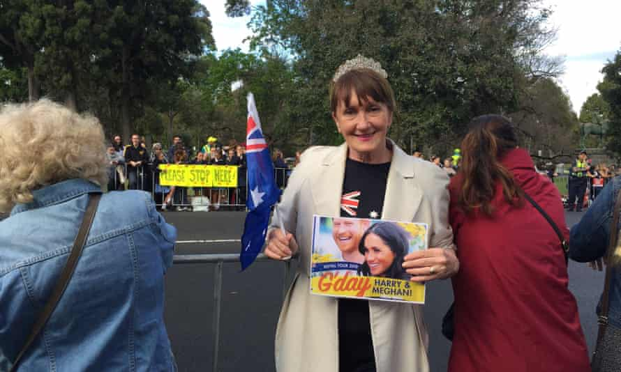 Debra Ludvig left her house before dawn to see Prince Harry and Meghan in Melbourne.