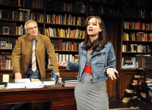 Larry Lamb and Laura Dos Santos star in a revival at the Menier Chocolate Factory, London, in 2010. Frank and Rita discuss several works of literature: Frankenstein, Howards End ('crap!' says Rita) and Yeats ('the wine lodge?' she asks). Dos Santos had starred in the 2009 radio version of the play.