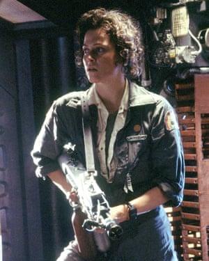 Last woman standing: Sigourney Weaver as Ellen Ripley.