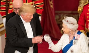 donald trump the queen