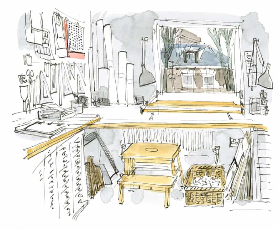 Gentleman's studio in Camden.