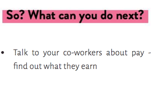 A screengrab from the #PayMeToo website, which offers practical advice on addressing the gender pay gap.