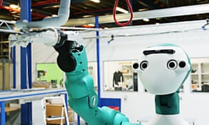 Ocado's almost C3PO-style robot SecondHands lends a helping hand.