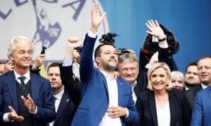 Geert Wilders, Matteo Salvini and Marine Le Pen.