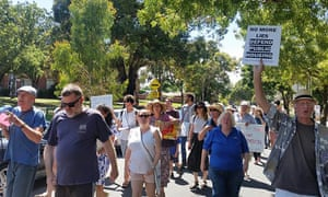 A protest in Clifton Hill, Victoria