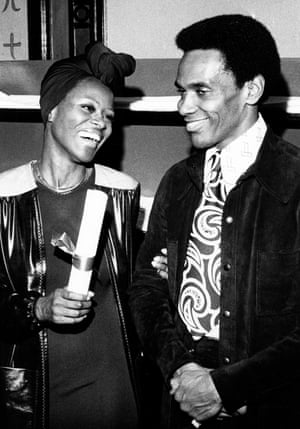 Mitchell with the actor Cicely Tyson at the 1973 National Society film critics awards