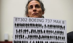 Nadia Milleron, the mother of Samya Stumo, one of the 346 victims of the two crashes suffered by Boeing's new 737 Max.