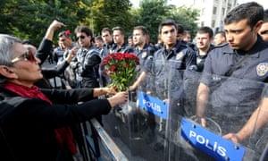 Riot police in Ankara