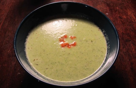 Nigel  Lawson broccoli and stilton soup