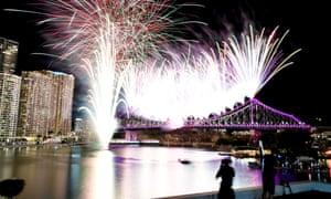 Brisbane's annual Riverfire fireworks display in 2017
