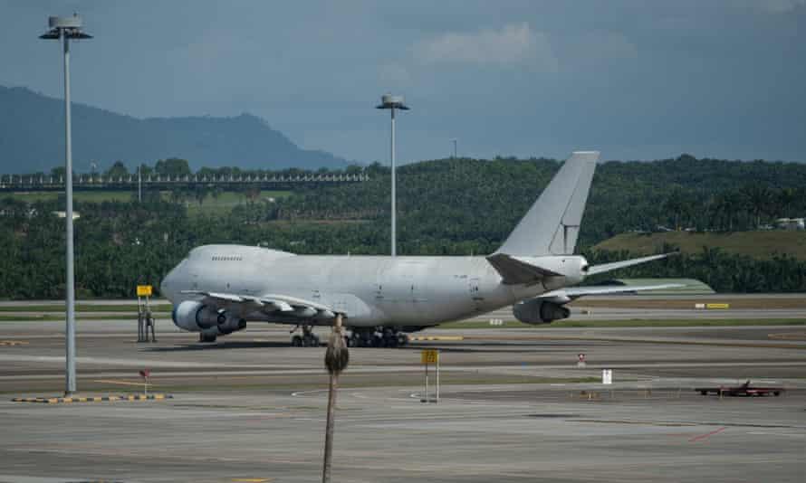 One of three Boeing 747 aircraft abandoned at Kuala Lumpur international airport in Sepang, Malaysia.