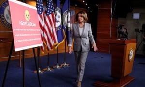 Nancy Pelosi on Capitol Hill on Thursday.