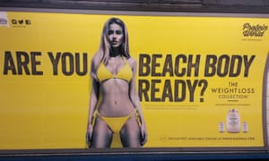 A Protein World advert displayed in an underground station in London makes New York splash in Times Square.