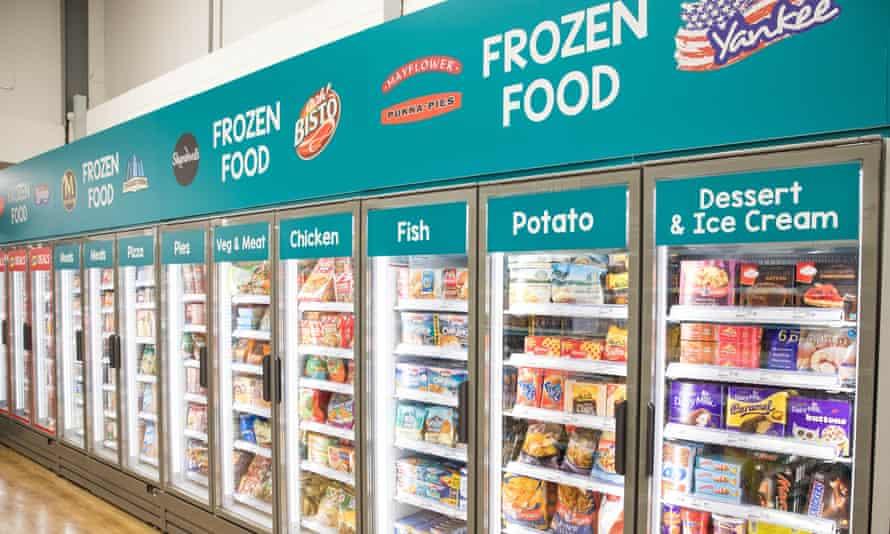 frozen food cabinets at poundland
