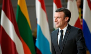 Emmanuel Macron arriving at the summit