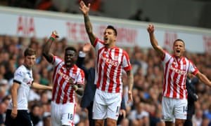 Stoke scored two late goals to peg Spurs back and draw.