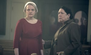 Elisabeth Moss and Ann Dowd in The Handmaid's Tale.